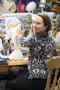 Claire Strickland in her studio